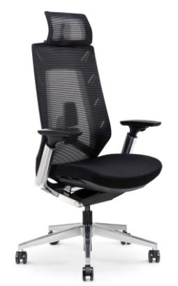 כסא מנהל EURO גבוה כולל תמיכה לראש רשת