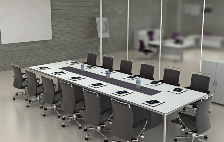 שולחן ישיבות לבן אפוקסי לבן ייבוא