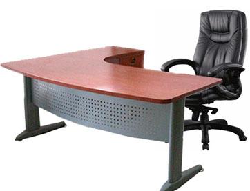 שולחן עבודה ארגונומי + רגלי מתכת ''אלפא''