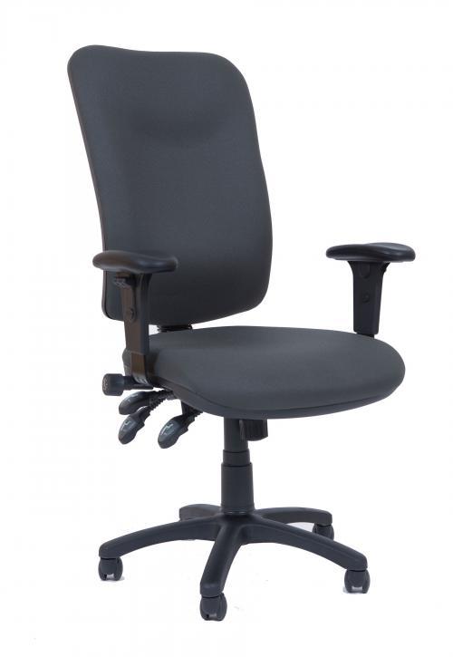 כסא מנהל דגם אוריון מרופד בבד גב גבוה